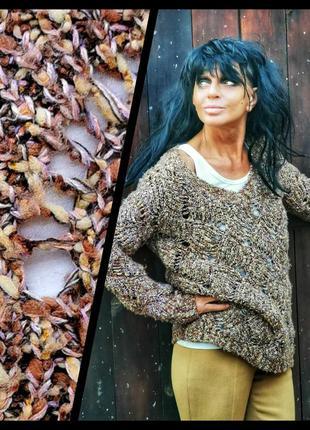 🌟распродажа! 🌟 пуловер с шерстью falmer heritage ажурный вязан...