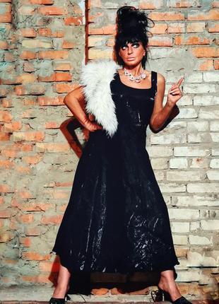 Вечернее платье атлас сатин с фатином длинное apart