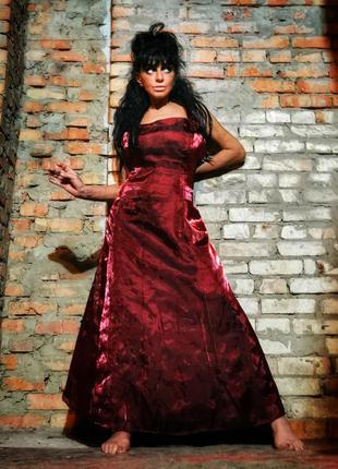 Вечернее платье длинное макси с фатином батал большого размера