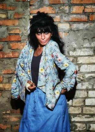 Жакет кардиган накидка пиджак блейзер new look в принт цветы