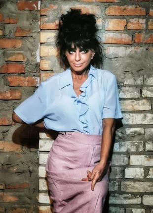Блуза рубашка с рюшами berkertex