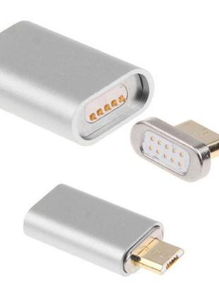 Магнитный адаптер на кабель для подключения micro USB устройств