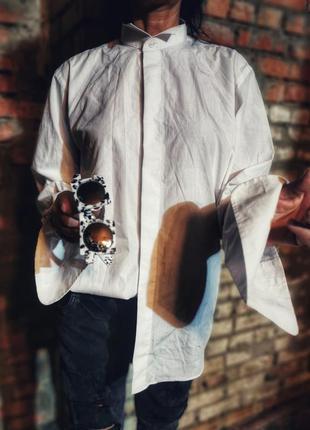 Фрачная рубашка мужская под запонки armando