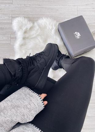 Nike sf air force 1 (black / black – black)  шикарные кроссовк...