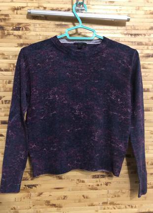 Шерстяная кофта свитер пуловер cos фиолетово-синего цвета