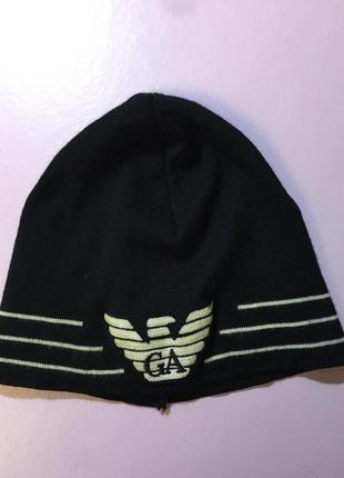 Emporio armani шапка на подростка шерсть италия