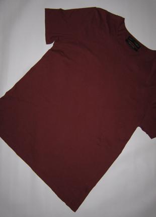Бордово-коричневая футболка
