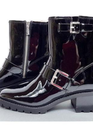 Кожаные женские ботинки michael kors (майкл корс). оригинал.