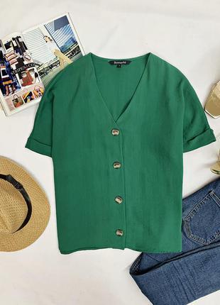 Блуза насыщенного зеленого цвета от bonmarche