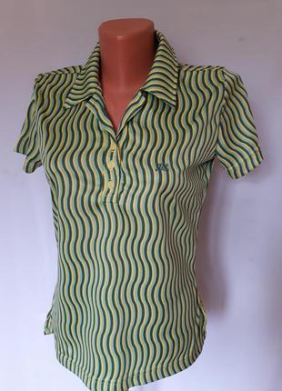 Женская футболка- поло в стиле ,,60-70 годов,, pepe  jeans (ра...