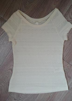 Ажурная трикотажная футболка от h&m