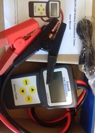 Анализатор тестер аккумуляторной батареи MICRO-200 12В/24В