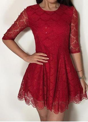 Шикарное красное платье, f&f