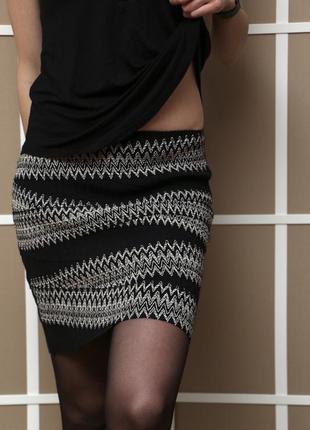Бандажная юбка h&m
