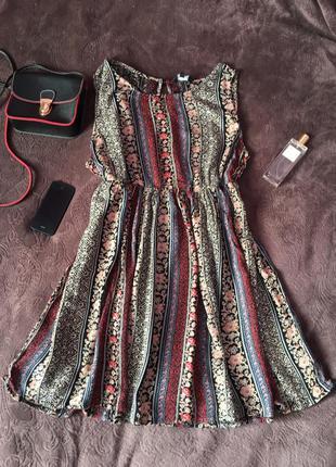 Платье сарафан стиль бохо легкое летнее