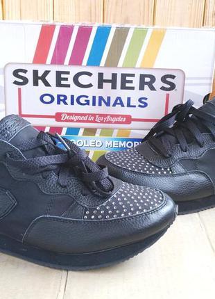 Супер стильные кожаные сникерсы кроссовки skechers air cooled ...