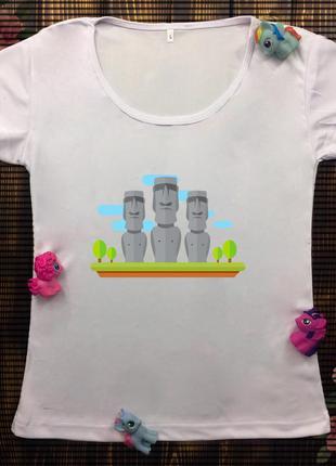 Женская футболка  с принтом - тотемы