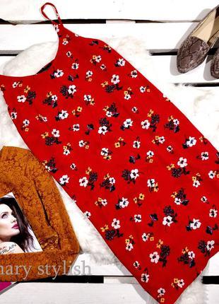Красное платье креп-шифон