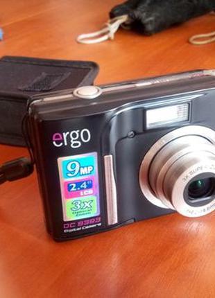 Фотоаппарат Ergo DC 9393 в отличном состоянии 9 Мпикс, чехол б...