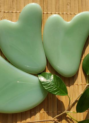 Гуаша нефрит пластина скребок для массажа