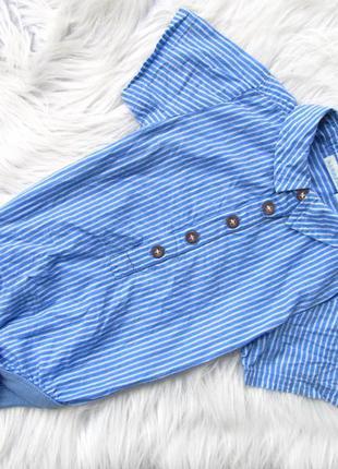 Боди  рубашка  с коротким рукавом jojo maman bebe