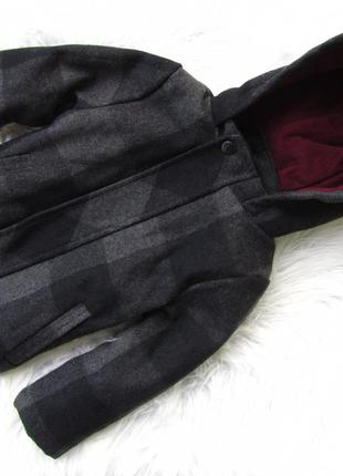 Стильная демисезонная куртка пальто с капюшоном rebel