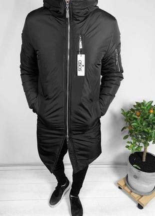 Чоловіча Зимова Тепла Куртка Парка Пальто Пуховик Плащ Без Пре...