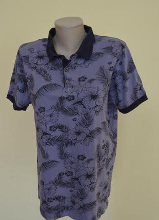 Красивая мужская котоновая футболка в принт