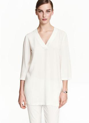 Акция! 1+1=3 новая вискозная удлиненная блуза h&m