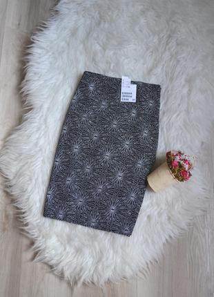 Новая короткая блестящая юбка h&m