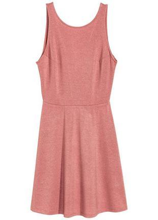 Новое   платье без рукавов с блестящей ниткой h&m