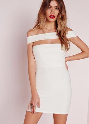 Новое облегающее платье с открытыми плечами missguided