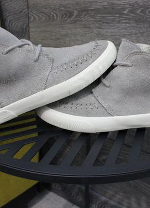 Утепленные ботинки кеды next натур. замш 30-31 размер