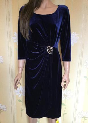 Платье вечернее бархатное с запахом julipa размер 14