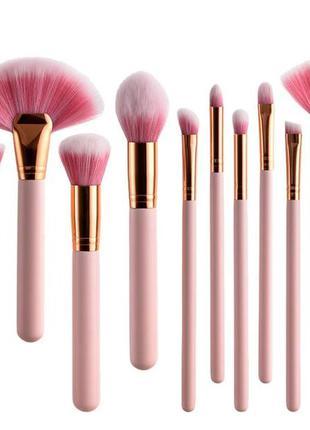 Набор красивейших кистей для макияжа - 10шт