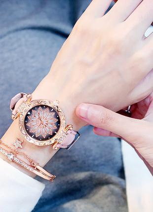 Роскошные женские часы + Браслет в подарок