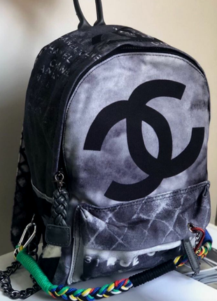 Рюкзак в стиле chanel graffity шанель граффити