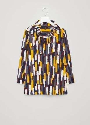 Cos хлопковая блуза блузка, рубашка