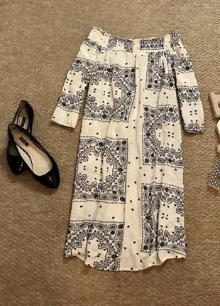 Легкое платье с вискозы в принт