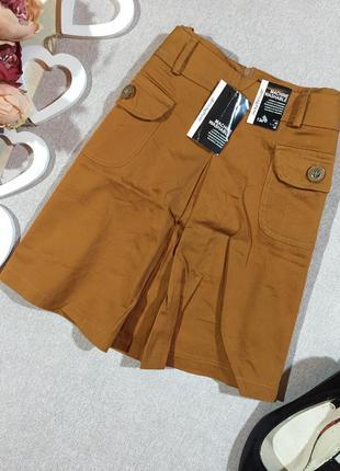 Новая!!! коттоновая мини юбка