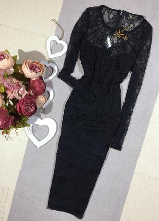 Новое! брендовое шикарное ажурное  платье по фигуре