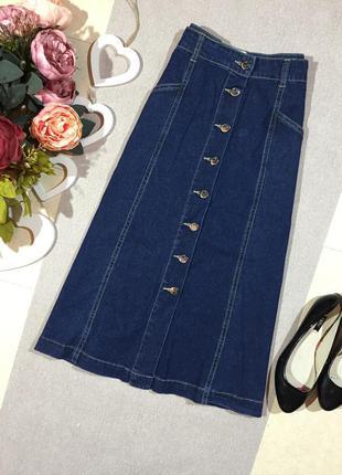 Красивая джинсовая юбка.