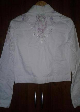 Белый хлопковый пиджак жакет promise