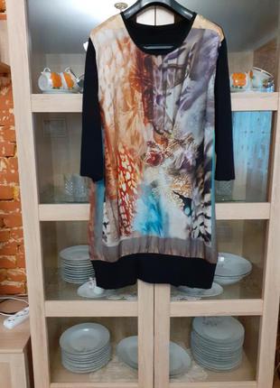 Интересное вискозное платье большого размера