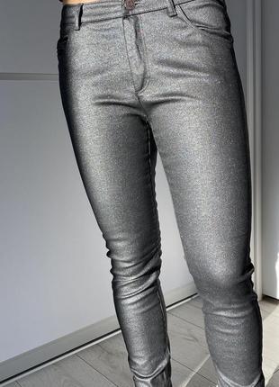 Крутые блестящие штаны, праздничные штаны от zara, 2020.