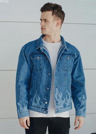 Джинсовая куртка staff blue fire