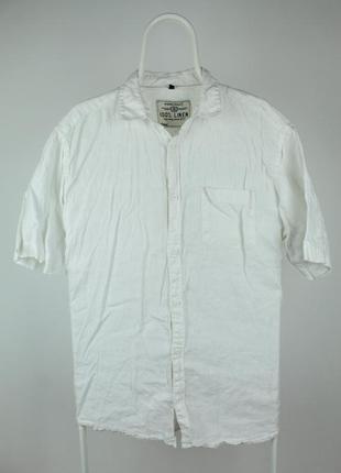 Шикарная рубашка тенниска angelo litrico 100% лён