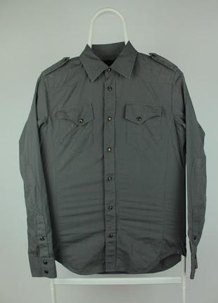 Стильная качественная рубашка g-star raw 3301 midnight shirt