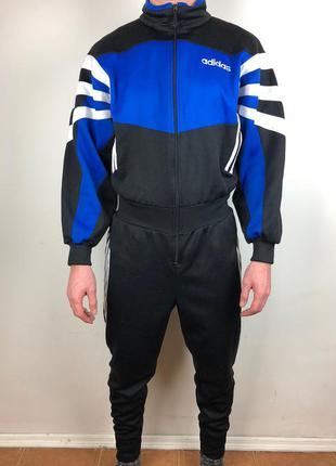 Крутой совместный спортивный костюм adidas jumpsuit vintage 90s