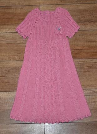 Платье, туника новое, нарядное, теплое девочке 110-122 см 5-7 лет